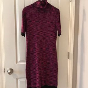 The limited sweater dress pink black sz medium
